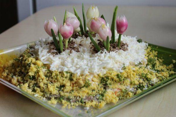 """Салат """"Весенние цветы"""""""