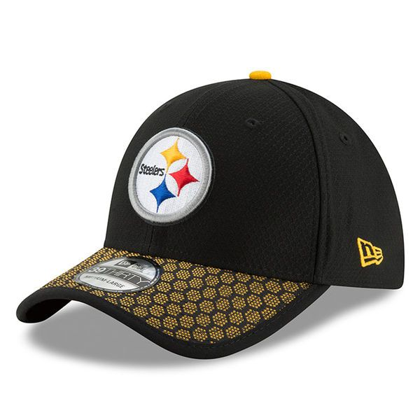 Pittsburgh Steelers New Era Youth 2017 Sideline Official 39THIRTY Flex Hat - Black - $29.99
