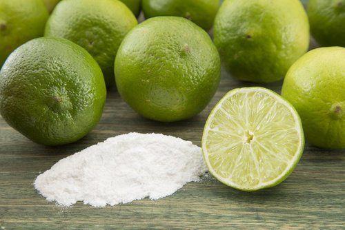 Limón y bicarbonato de sodio