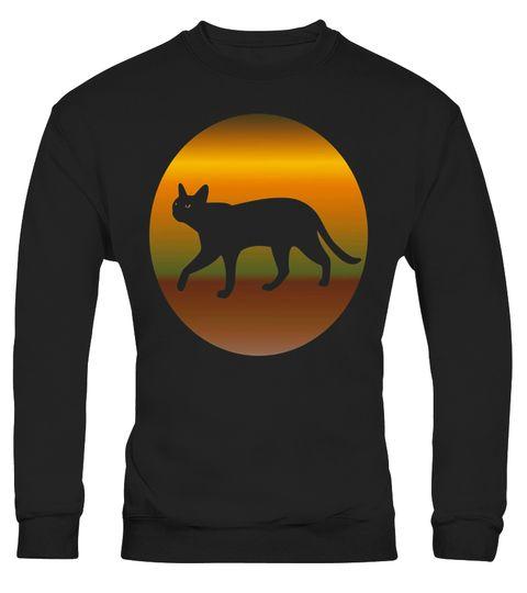 Lucky Black Cat Vintage Moon Fantasy Art Cat Lover T Shirt