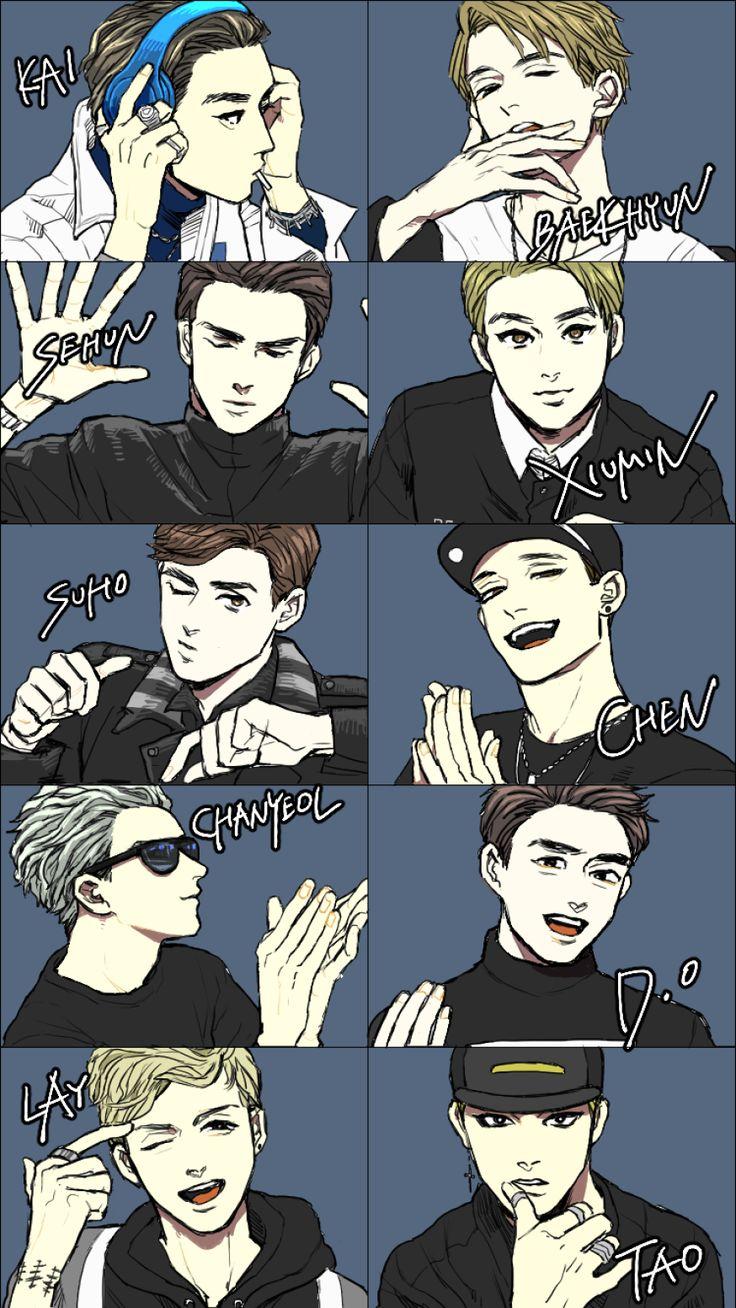 CALL ME BABY exo xiumin suho lay baekhyun chen chanyeol kyungsoo kai sehun fanart kpop