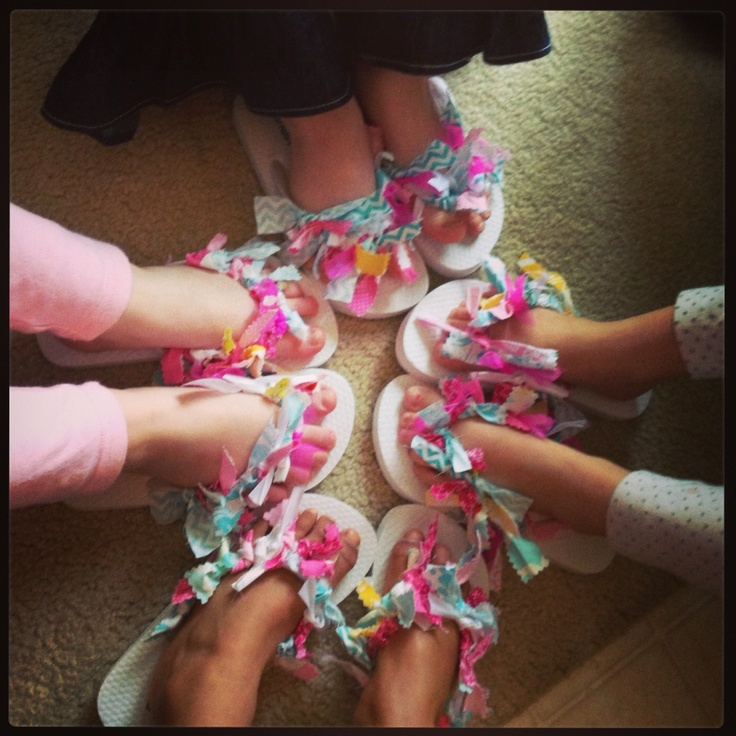 Flip Flops The Girls Made At Rylie S Spa Party My Own