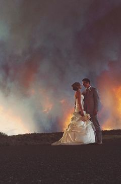 This real wildfire wedding tops it all