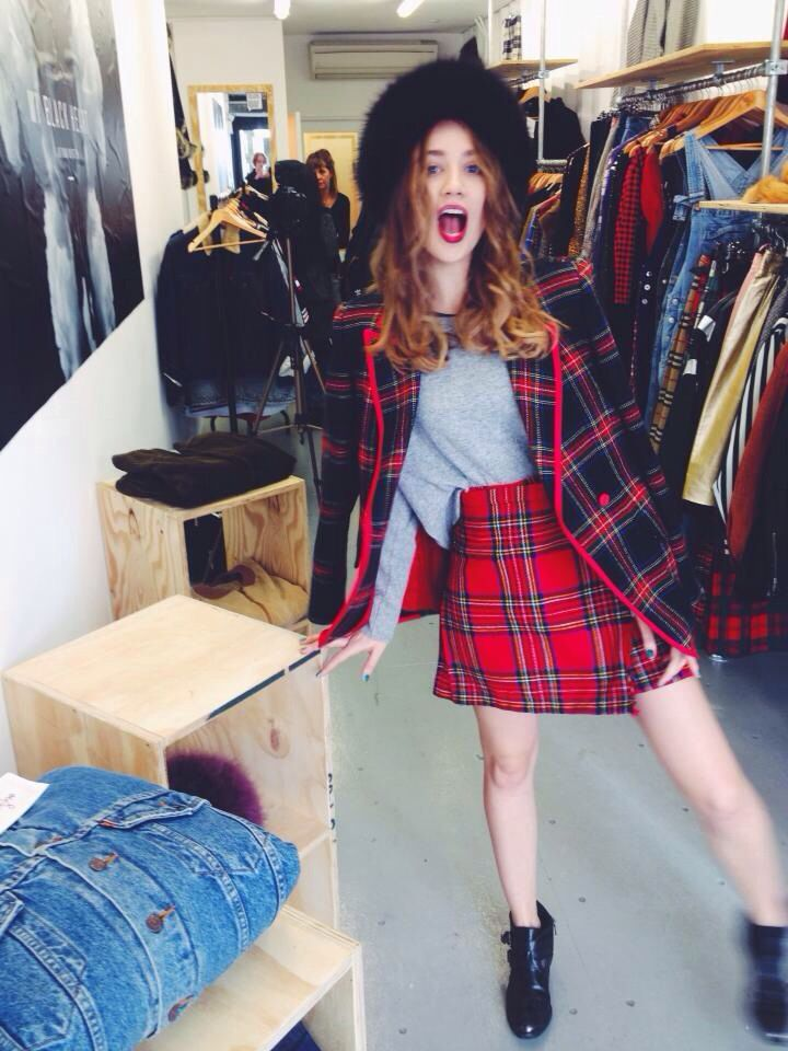 Happy Customer rocking Nordic Poetry head to toe at our Shop at BoxPark ,unit 11,London