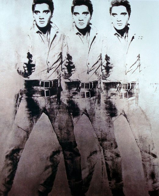 Elvis Presley by Andy Warhol- originally given to Bob Dylan as a gift, who then traded it for a jacket
