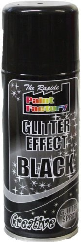 3 x 200ml BLACK Glitter Effect Spray Paint It's creative, Its Glitter AND IT SPRAYS It's ideal for decorating, great for spraying trees, pine cones, foilage paper, picture frames & similar materials.
