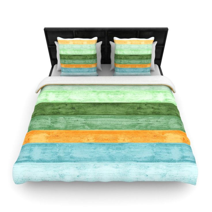 """Beach Wood Blue"" Art Object Woven Comforter Duvet Cover"