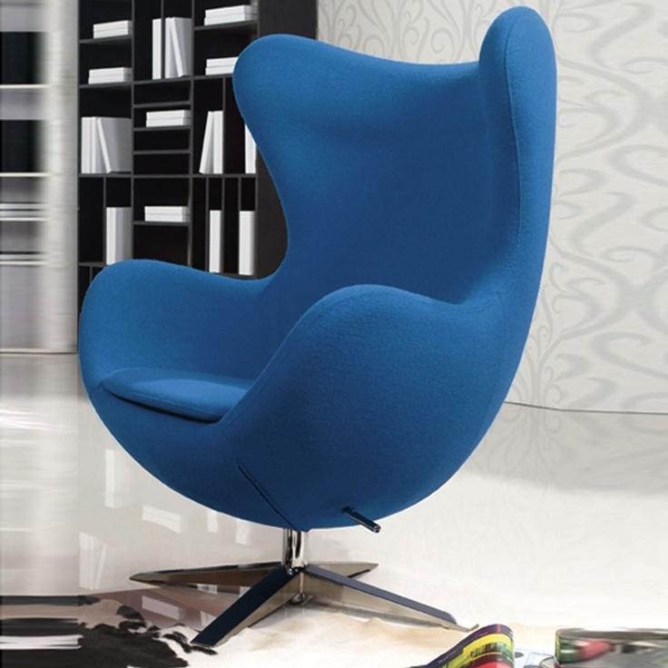 Elle Sculptured Lounge Chair #ACHICABlue