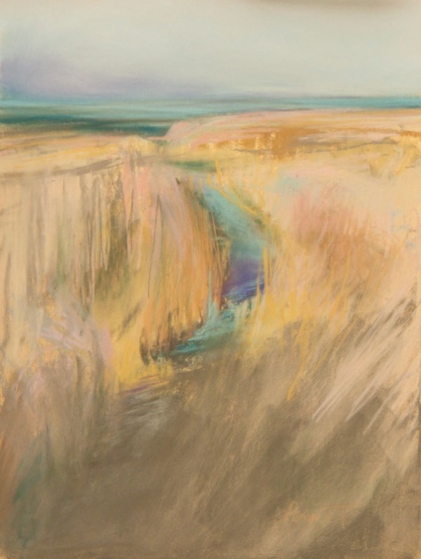 Sarah Peroutka Studio: Beach Grass/pastel. 2013