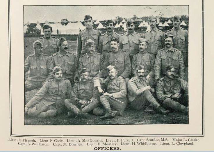 Officers of the 1st Victorian Contingent to the Boer War.Circa April, 1900.