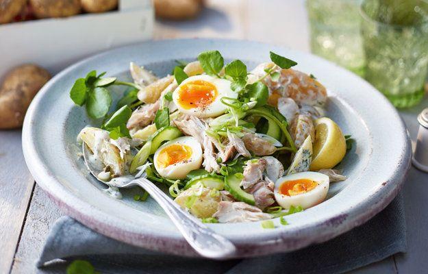 Салат из картофеля и скумбрии - кулинарный пошаговый рецепт с фото на KitchenMag.ru