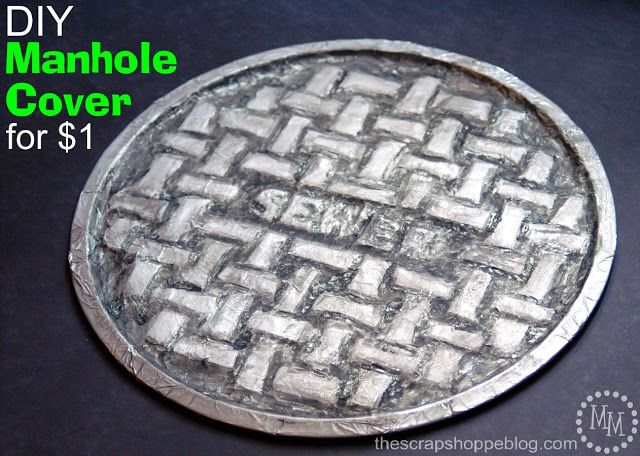 DIY $1 Manhole Cover - Perfect for a Teenage Mutant Ninja Turtle party! #TMNT