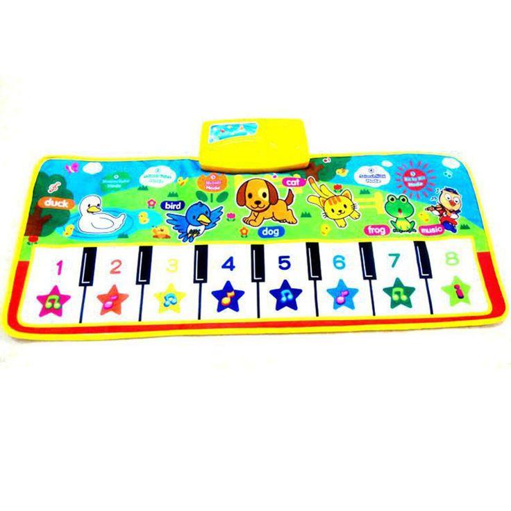 赤ちゃんの音楽カーペット赤ちゃん音楽マット新生児ベビーキッズ子供クロールピアノミュージカルカーペットミュージカルマットブランケット敷物おもちゃギフト動物