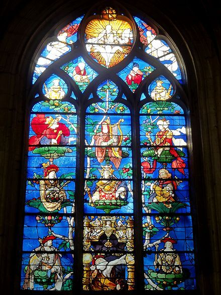 Tree of Jesse - Jesse Treeat Saint-Étienne church in Beauvais, France, by Engrand Le Prince, 1522–1524