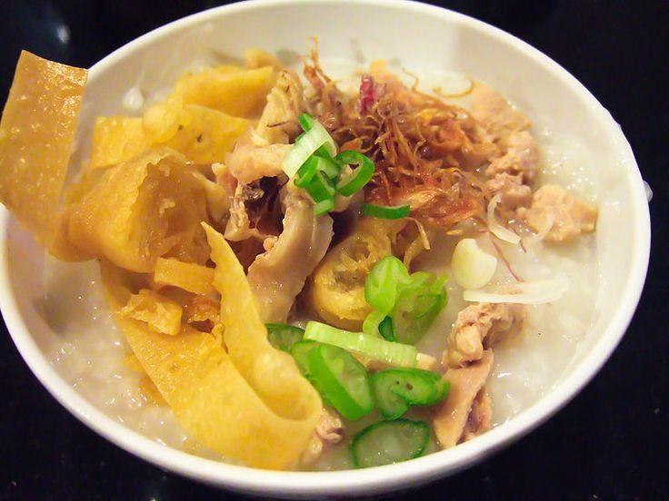 Bubur ayam / chicken porridge, Indonesia