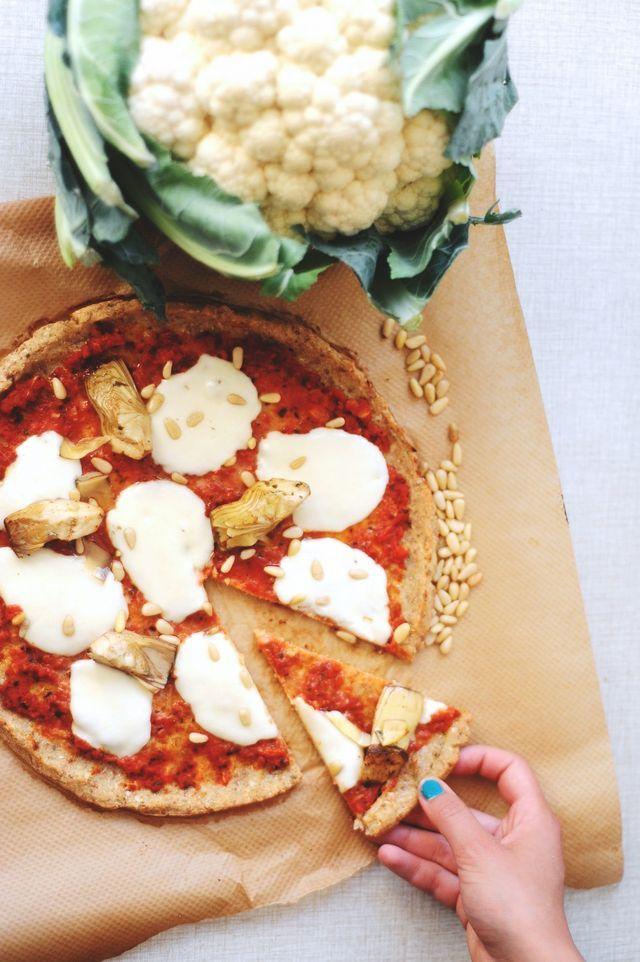 Blomkålspizza.