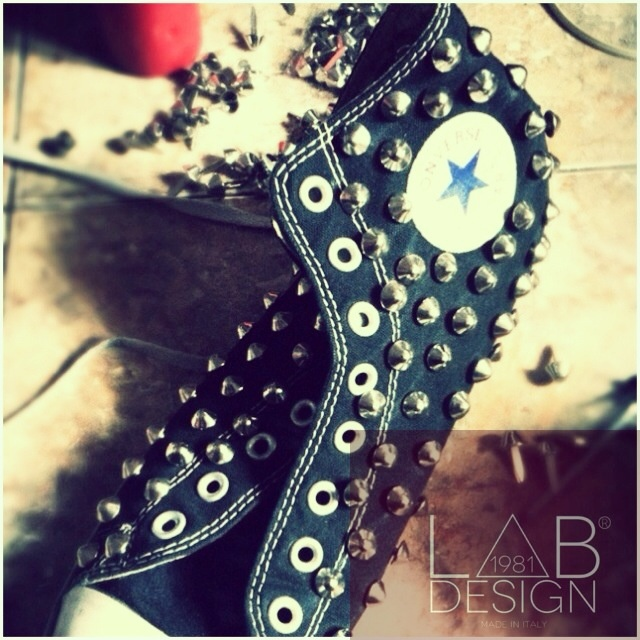 Converse studded customized handmade in italy by labdesign.