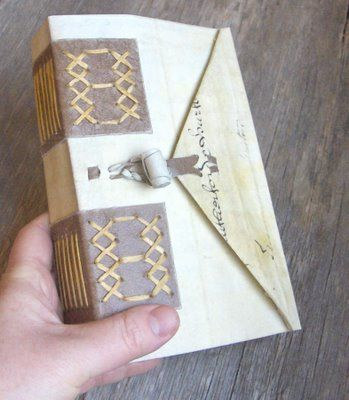 My Handbound Books - Bookbinding Blog: Spanish Ledger Replica