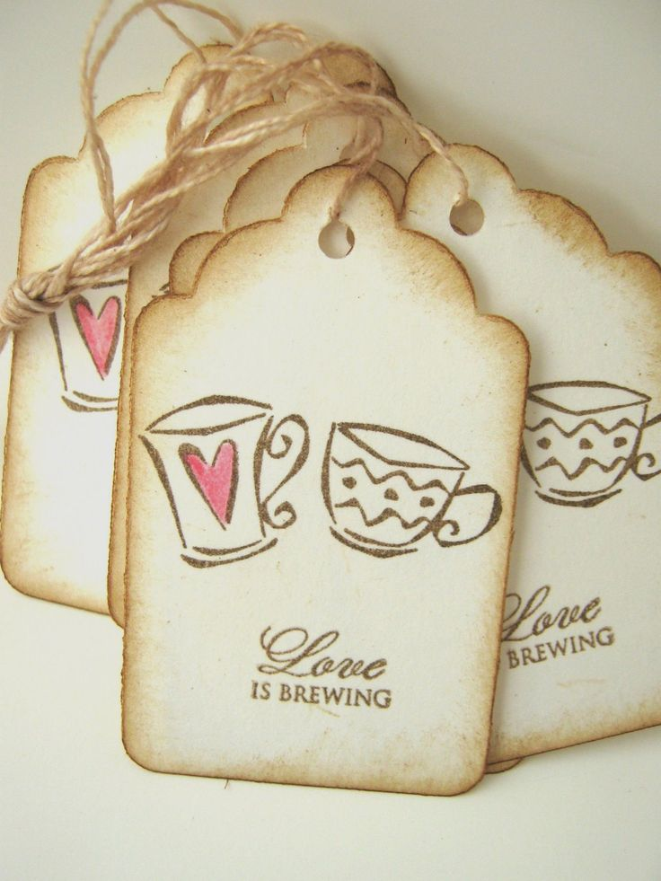 Wedding Wish Tags Love is Brewing Espresso by CharonelDesigns, $4.95