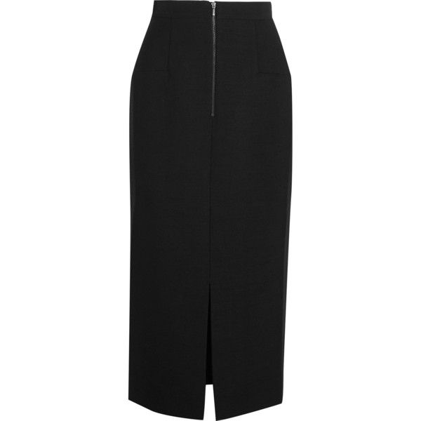 Cefinn Hopsack midi skirt (€215) ❤ liked on Polyvore featuring skirts, slimming skirts, calf length pencil skirts, zipper pencil skirt, mid-calf skirts and midi pencil skirt