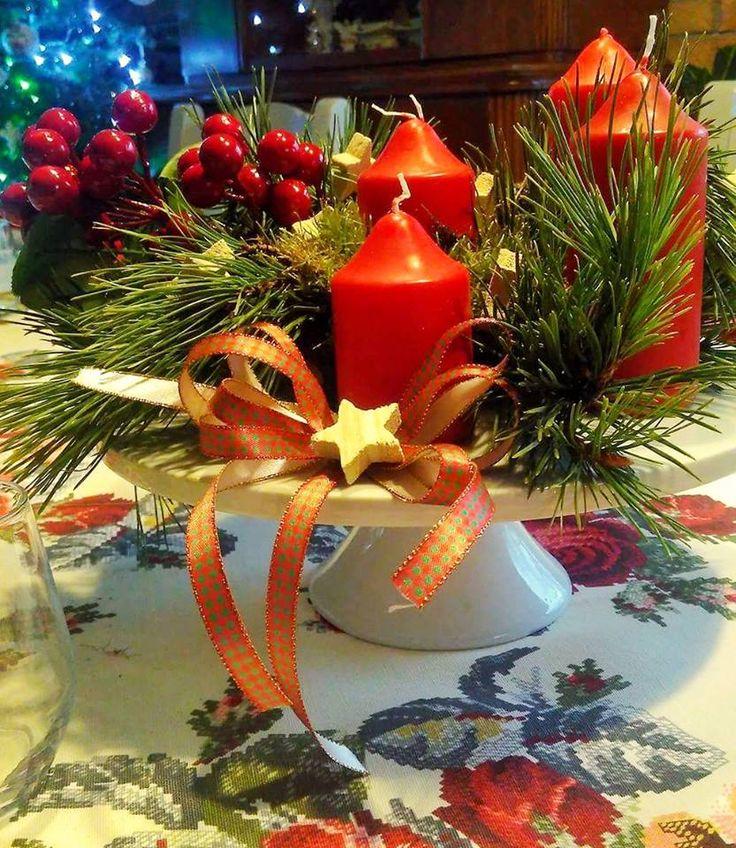 #christmas #święta #decorations #table #candels #ideas #christmaseve