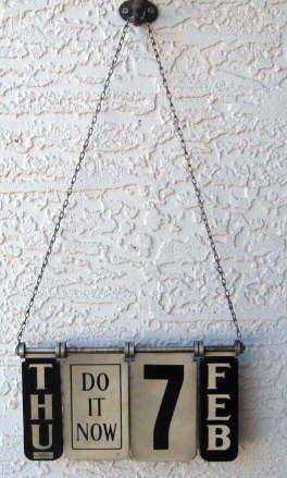 Vintage hanging calendar IRLT!