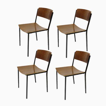 Industrielle Vintage Stapelstühle von Mauser, 4er Set Jetzt bestellen unter: https://moebel.ladendirekt.de/kueche-und-esszimmer/stuehle-und-hocker/esszimmerstuehle/?uid=baa68e0d-a096-557e-a70b-49811aac55e7&utm_source=pinterest&utm_medium=pin&utm_campaign=boards #kueche #sets #esszimmerstuehle #esszimmer #hocker #stuehle