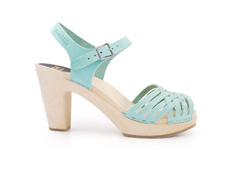 Swedish HasbeensGreen Shoes, Braids Sky, Mint Green, Swedish Hasbeens, Braids Hasbeens, High Sandals, Bloom Brain, Mint Shoes, Sky High