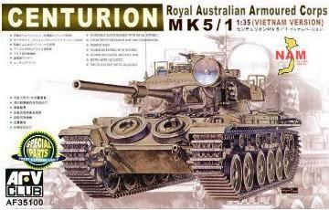 Centurion Mk.5/1 (Vietnam Version), Royal Australian Armoured Corps. AFV Club, 1/35, initial release 2006, No.AF35100. Price: 35,50 EUR (marketplace).