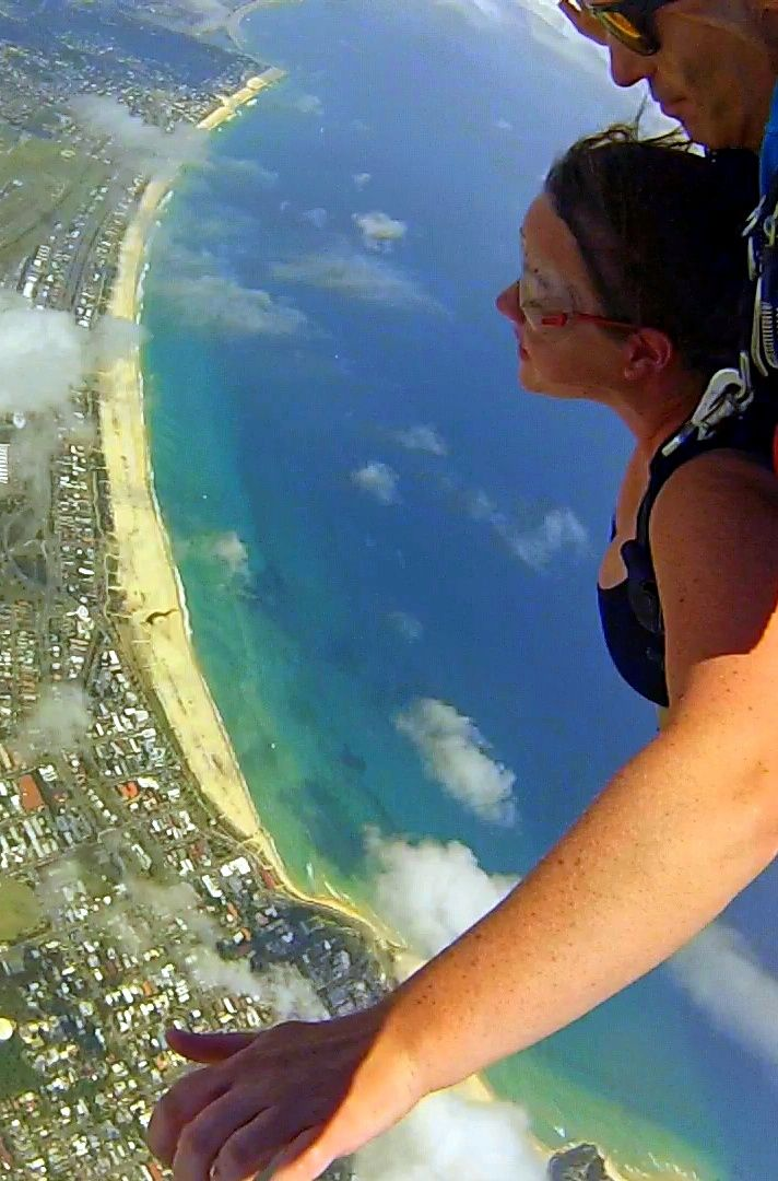 Epic Gold Coast Skydive over Kirra Beach. Click pin for Video.