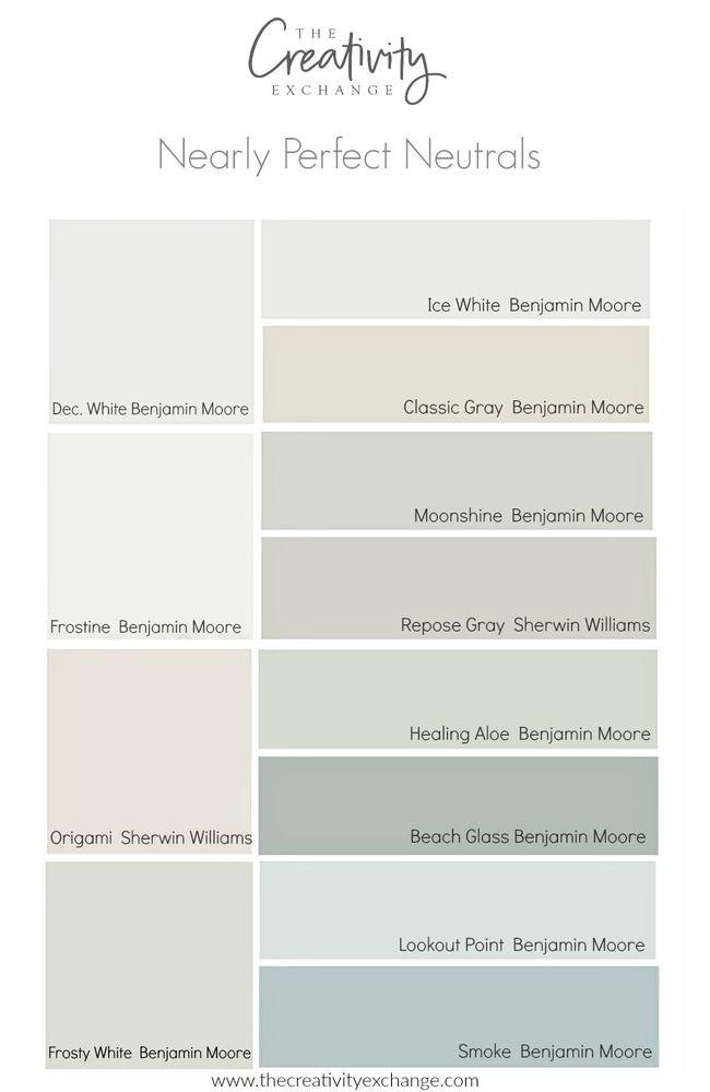 Nearly Perfect Neutral Paint Colors Pick A Paint Color Pinterest