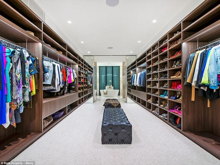A girl can dream: It also features a large dressing room off the master bedroom, where Jen has placed her impressive collection of designer heels and clothes