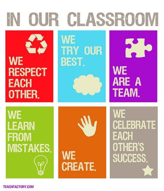 Simplifying classroom rules This is a very simple, nice poster #classmanagement #startofyear #communitybuilding