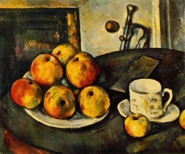 Cezanne   This was my introduction to Cezanne, and for years I regarded him as a still life painter.  What a marvelous surprise I experienced!