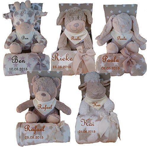 Baby Kinder Set 3 teilig Babydecke mit Namen bestickt Teddy Halstuch Taufe Geburt  http://www.geschenkewebshop.info/produkt/baby-kinder-set-3-teilig-babydecke-mit-namen-bestickt-teddy-halstuch-taufe-geburt/