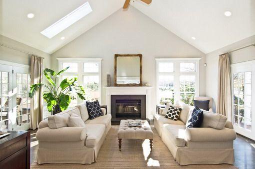 Soft cream coloured living room