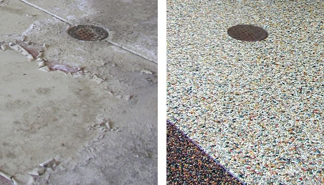 Stone flooring before and after: nature stone floor ...
