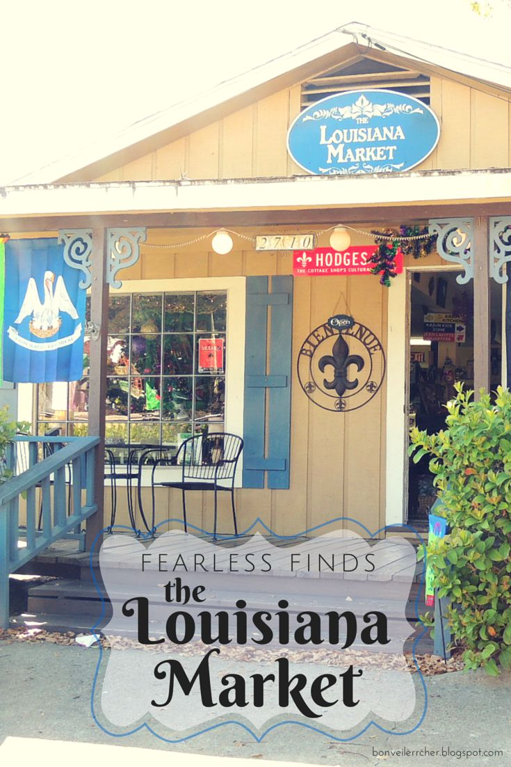 Fearless Finds: The Louisiana Market -- one of the oldest stores in the Cottage Shop District in Lake Charles, Louisiana, with gifts, art, food, coffee, and a warm, inviting atmosphere | bonveillercher.blogspot.com