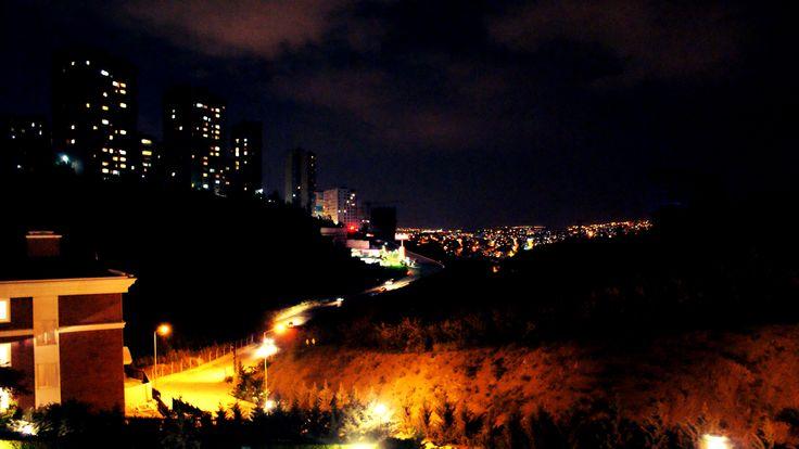 A city night in Ankara, Turkey
