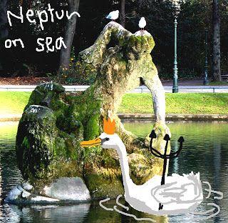 kultspecht, malerisches Bild, Neptun on sea, deutsche Graffiti, Digitale Malerei, Foto Übermalung, Kunstdruck, Kunst Poster, künstlerisches Bild, Gott Neptun,  6,50 €