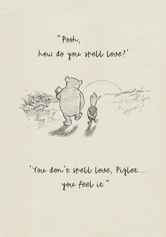 Pooh How Do You Spell Love Winnie The Pooh Quotes Classic Vintage Style Poster Print 115 Pooh Quotes Winnie The Pooh Quotes Winne The Pooh Quotes