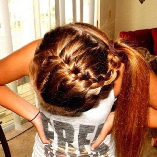 Braid cheer leading up do