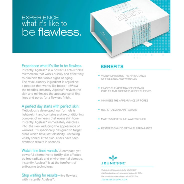 Experience what it's like to be #flawless. #ageless