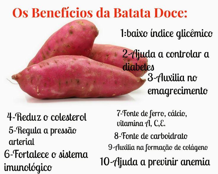 A queridinha da vez: Batata Doce A batata doce tornou-se a queridinha da vez dos adeptos de uma alimentação saudável devido seus vários bene...