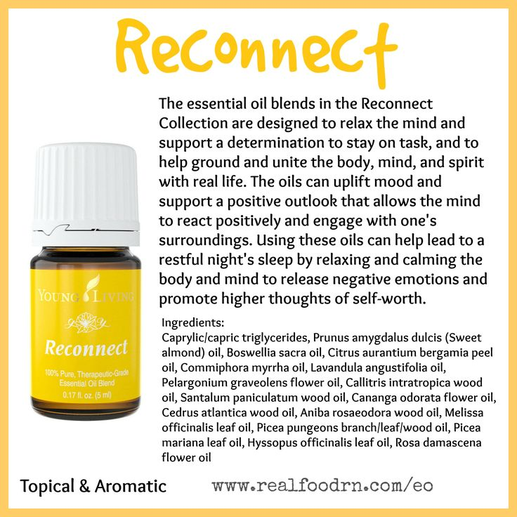 Reconnect Essential Oil Release Negative Emotions And