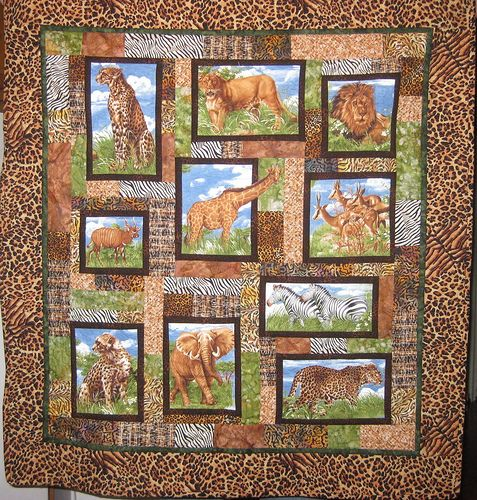 animal quilts patterns | My Feed Dogs Are Down: Safari quilt