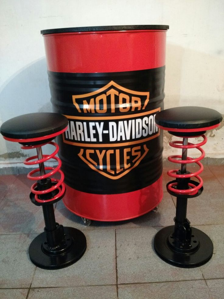 Harley Davidson Barrel Table
