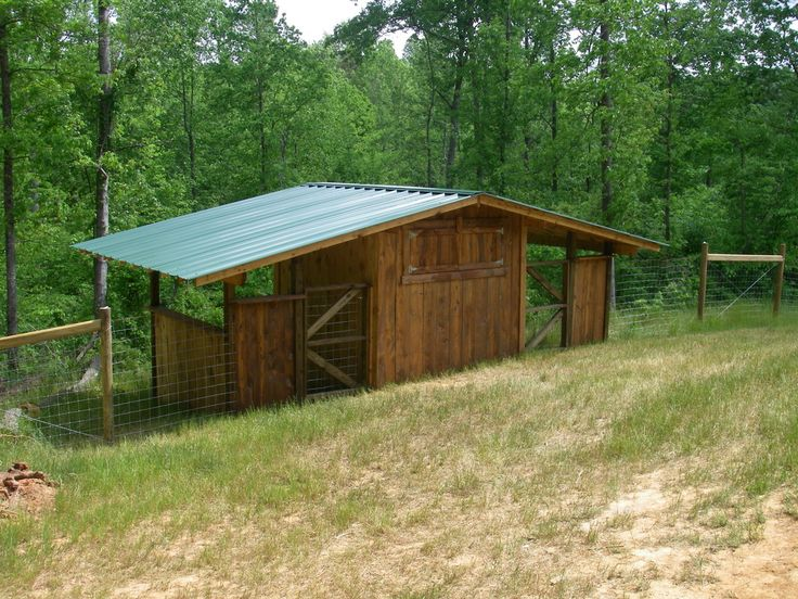 Great goat shed with another side for either sheep or for Small metal barns