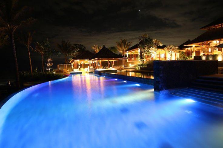 Puri Salila's pool at night