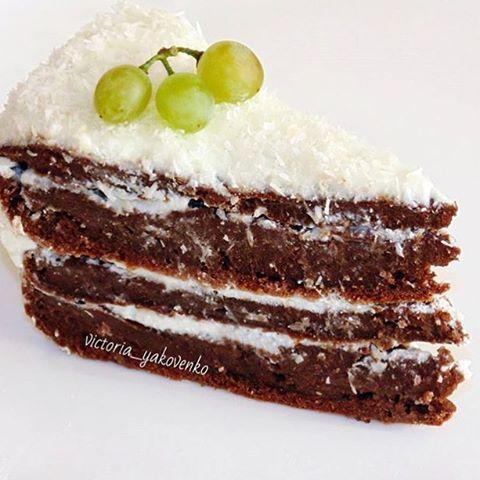 Пп-тортик Влажные шоколадные коржи, нежнейший крем и тонкие цитрусовые нотки, которые придают особенный вкус  Калорийность на 100 г составляет 156 ккал. Пищевая ценность: белков - 8,9 г, жиров - 4,6 г, углеводов - 19,4 г.  Игредиенты: Для коржа: 300 г цельнозерновой муки 2 стакана воды 3 ст. л. какао-порошка 10 г разрыхлителя 2 ст. л. оливкового масла 1 ч. л. лимонного сока щепотка ванилина сахарозаменитель по вкусу Для крема: 300 г творога 1 ст. л. меда  Приготовление: Смешиваем все су...